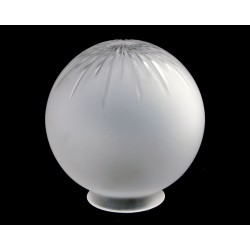 Frosted Cut Glass Globe Shade