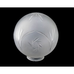 Etched, Cut Glass Globe Shade