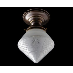 Semi flush mount light with...