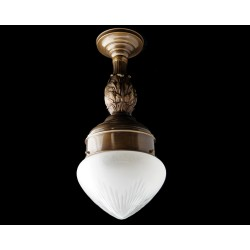 Decorative brass pendant light