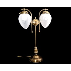 Brass double table lamp