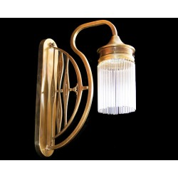 Brass wall fixture with...